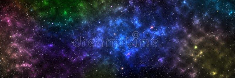 galaxie horizontale pour le fond et la conception, élément de cet imag images stock