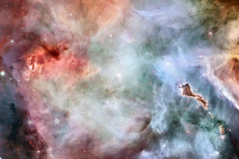 Galaxie incroyablement belle quelque part dans l'espace lointain Papier peint de la science-fiction image stock