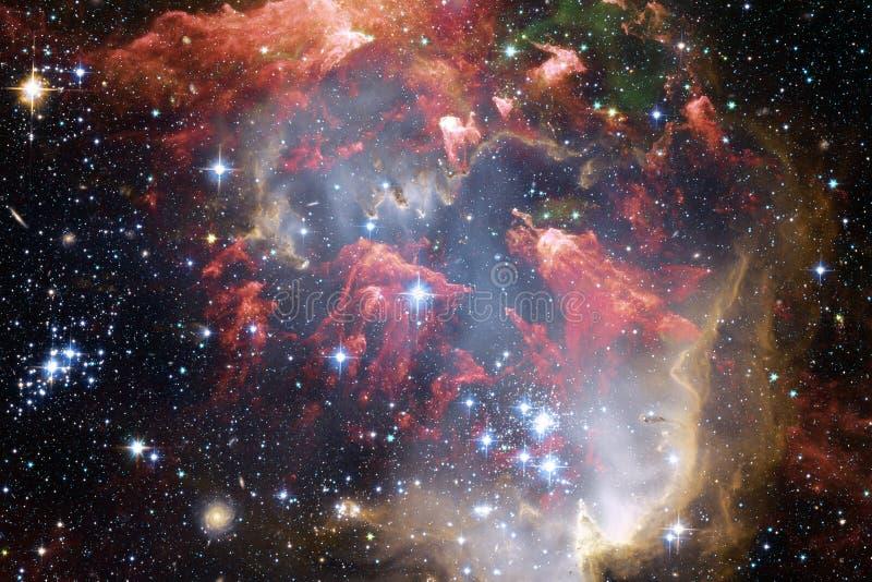 Galaxie quelque part dans l'espace extra-atmosphérique Éléments de cette image meublés par la NASA photographie stock libre de droits
