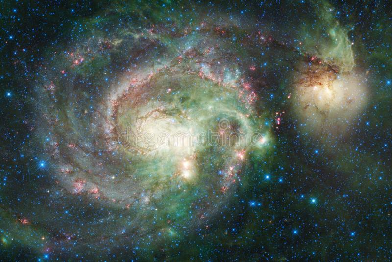Galaxie quelque part dans l'espace extra-atmosphérique Éléments de cette image meublés par la NASA image stock