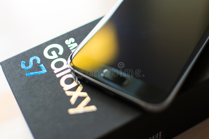 Galaxie S7 de Samsung photo libre de droits