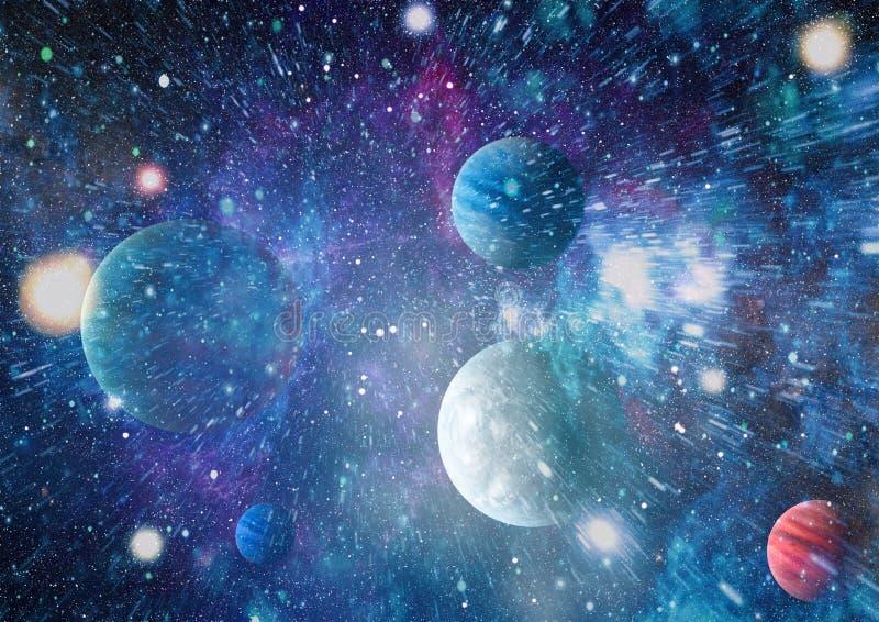 Galaxie und Nebelfleck Abstrakter Platzhintergrund Elemente dieses Bildes geliefert von der NASA stockfoto