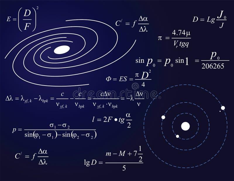 Galaxie und Planeten lizenzfreie abbildung