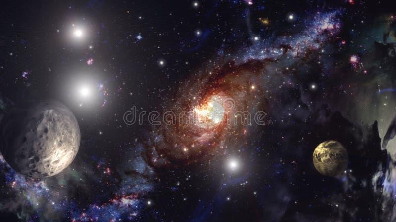 Galaxie- und Sternillustration lizenzfreie stockfotografie