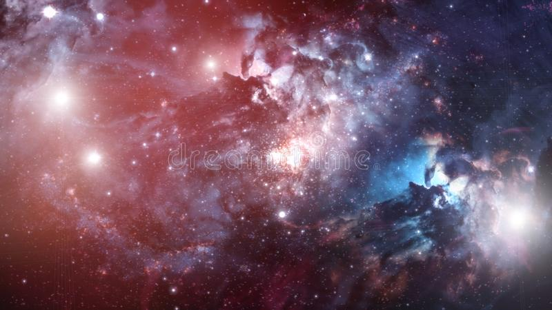 Galaxie- und Sternillustration stockbilder