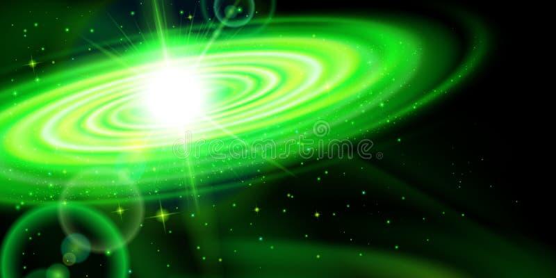 Galaxie verte illustration libre de droits
