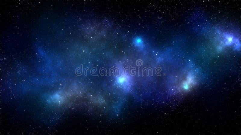 Galaxieraum-Nebelfleckhintergrund lizenzfreie stockfotos