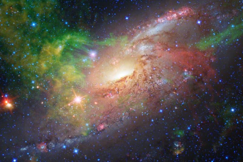 Galaxies, étoiles et nébuleuses dans l'image impressionnante de l'espace images libres de droits