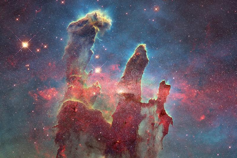 Galaxies, étoiles et nébuleuses dans l'image impressionnante de l'espace photographie stock