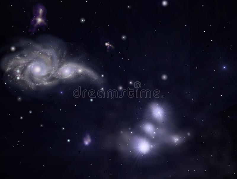 Galaxies. Illustration of galaxies outer space vector illustration
