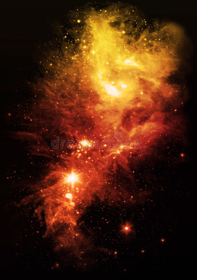 Galaxies and stars. In the night sky royalty free illustration