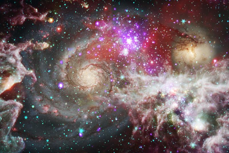 Galaxies, stars and nebulas in awesome space image. Colorful science fiction wallpaper. Elements of this image furnished by NASA royalty free illustration