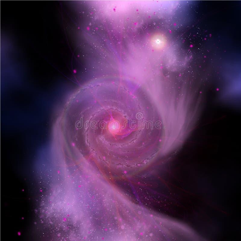 Galaxsammanstötning vektor illustrationer