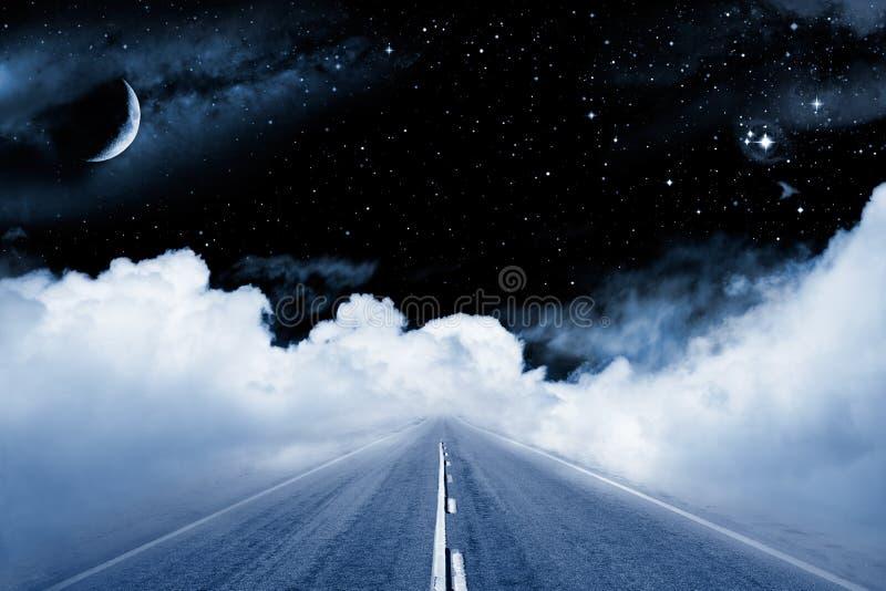 galaxväg till royaltyfri foto