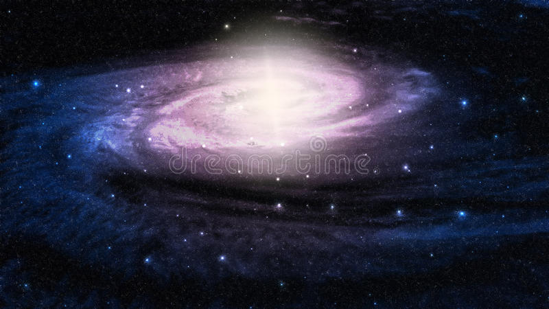 Galaxy. Space galaxy and star fogs stock illustration
