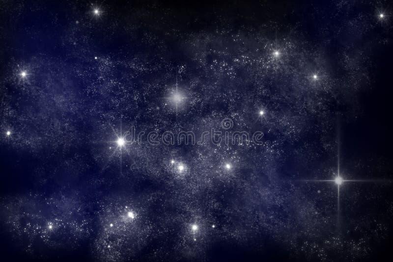 Galaxy. Art work of galaxy on dark blue background royalty free illustration