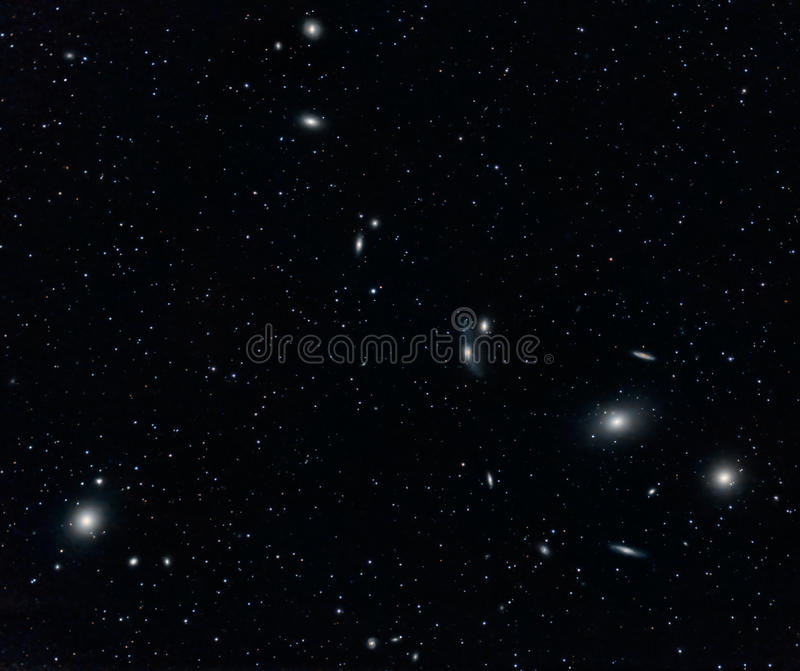 Galaxy Cluster in Virgo stock photos