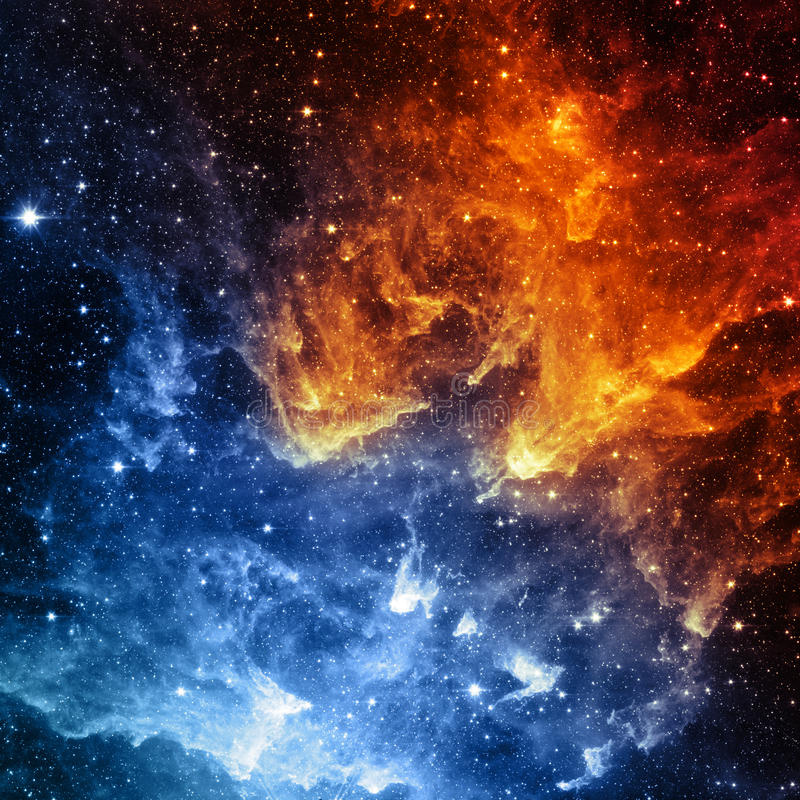 Galaxy - Elements of this Image Furnished by NASA. Galaxy. Contrast of color - Elements of this Image Furnished by NASA royalty free stock image