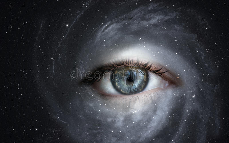 Download Galaxy with eye. stock photo. Image of nebula, sensory - 40887132