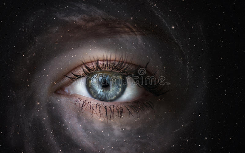 Download Galaxy with eye. stock image. Image of iris, looking - 41433741