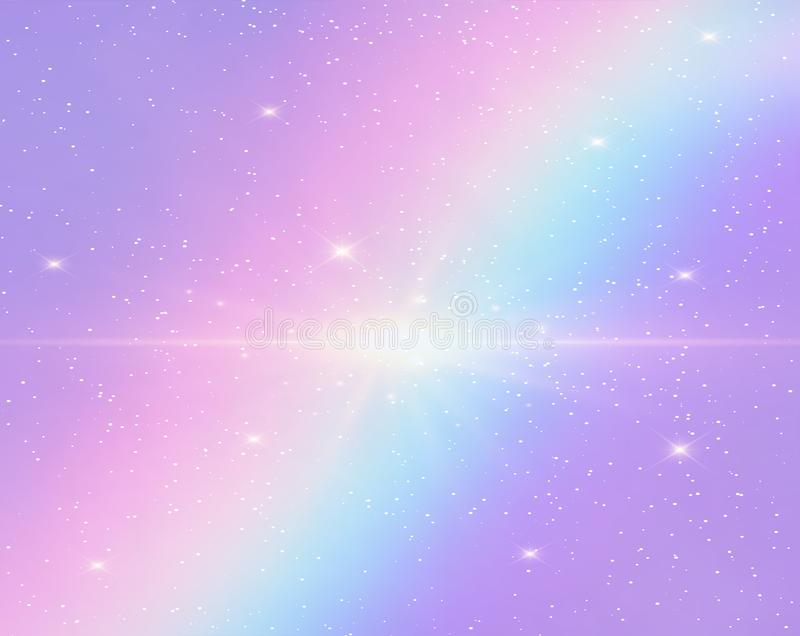Galaxy fantasy background and pastel color. stock illustration