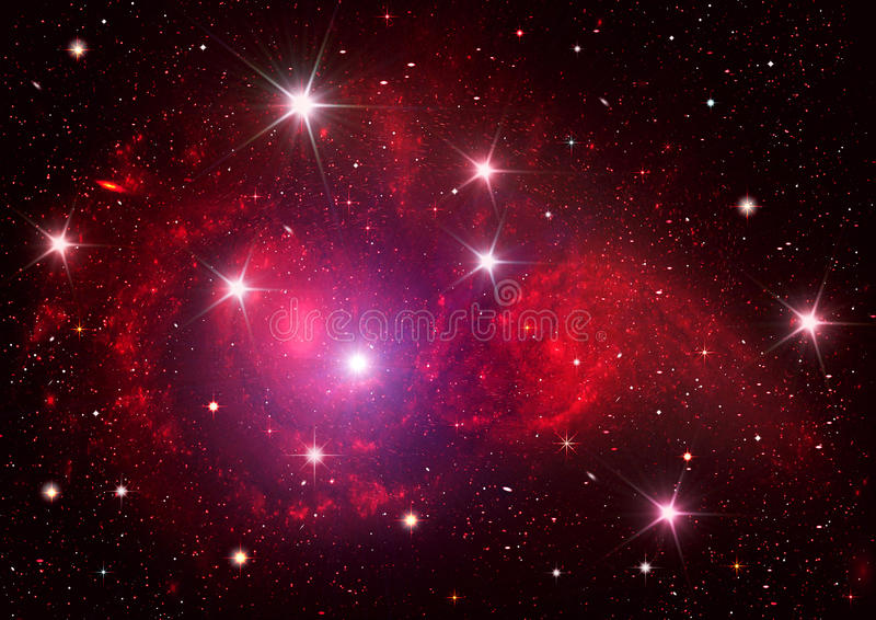 Galaxy in a free space royalty free illustration