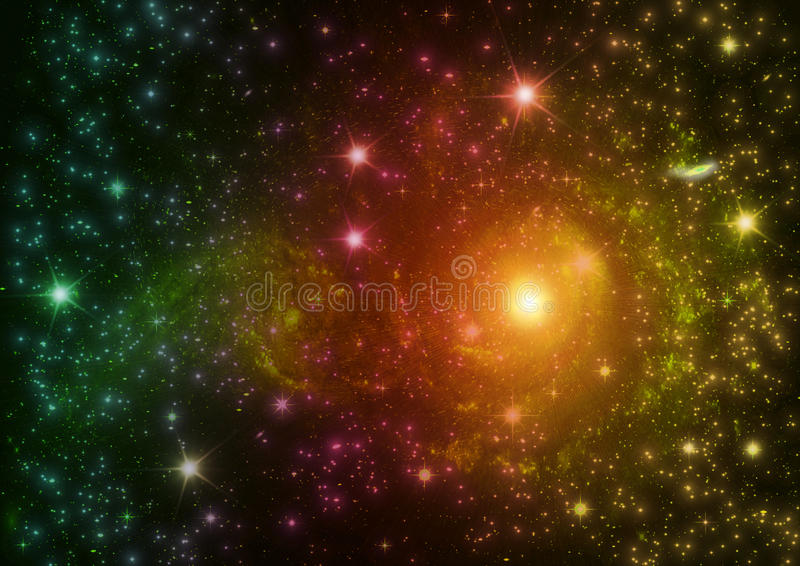 Galaxy in a free space stock illustration