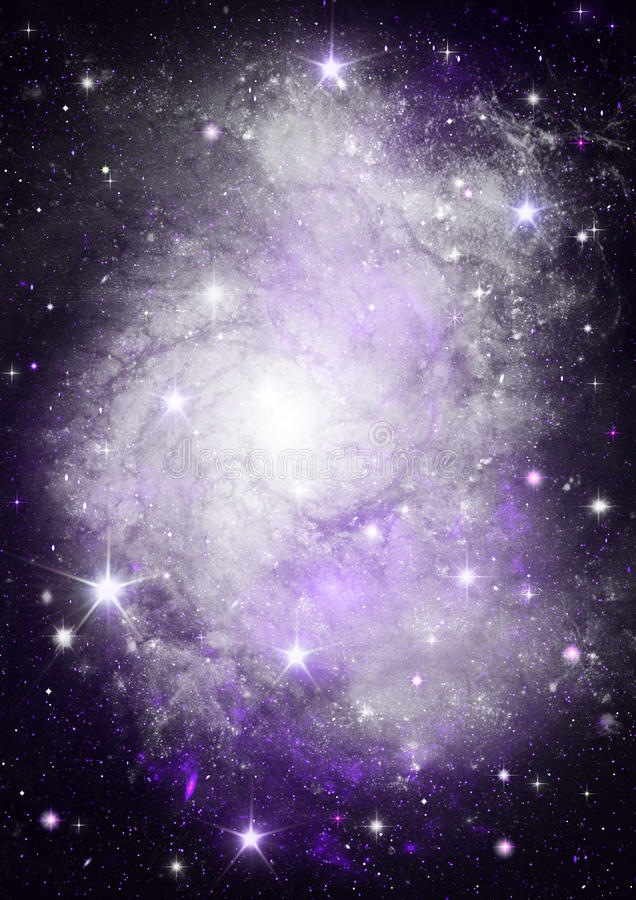 Galaxy in a free space vector illustration