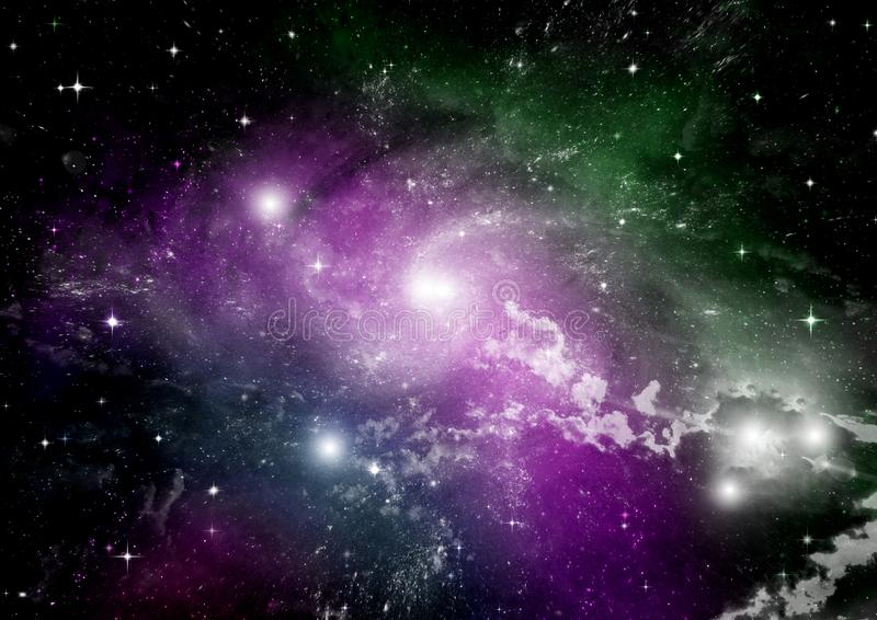 Galaxy in a free space. Stars of a planet and galaxy in a free space Elements of this image furnished by NASA stock illustration