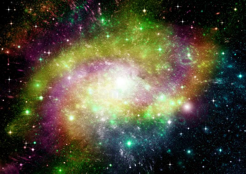 Galaxy in a free space. Stars of a planet and galaxy in a free space stock photography