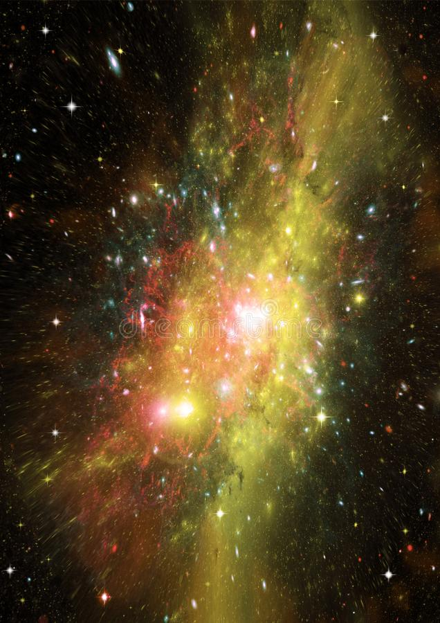 Galaxy in a free space. Stars of a planet and galaxy in a free space Elements of this image furnished by NASA stock photo