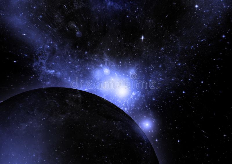 Galaxy in a free space. Stars of a planet and galaxy in a free space Elements of this image furnished by NASA royalty free stock image