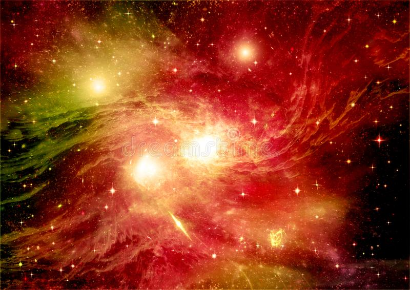 Galaxy in a free space. Stars of a planet and galaxy in a free space Elements of this image furnished by NASA royalty free stock photos