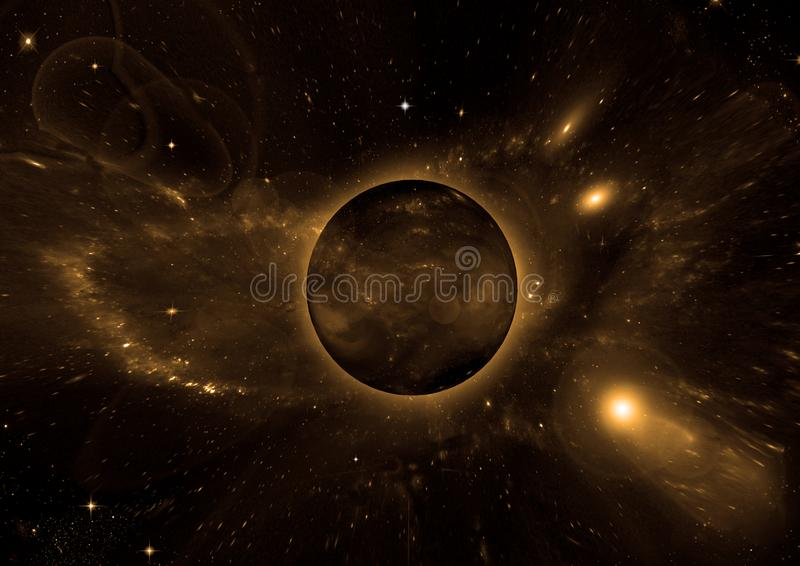 Galaxy in a free space. Stars of a planet and galaxy in a free space Elements of this image furnished by NASA royalty free stock images
