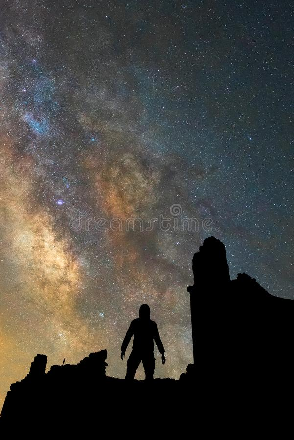 The Galaxy royalty free stock image
