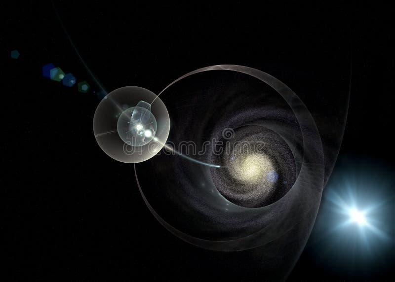 galaxy lekka mistyczna promieni przestrzeń royalty ilustracja