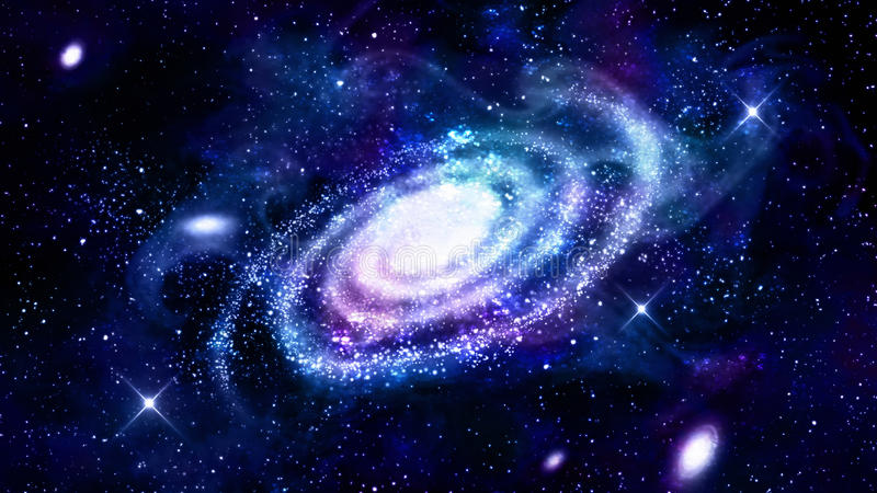 Galaxy in outer space stock illustration