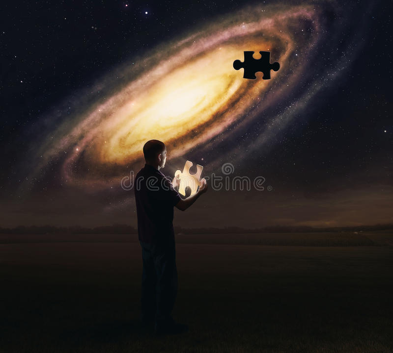 Download Galaxy puzzle piece stock image. Image of problem, planets - 39138585
