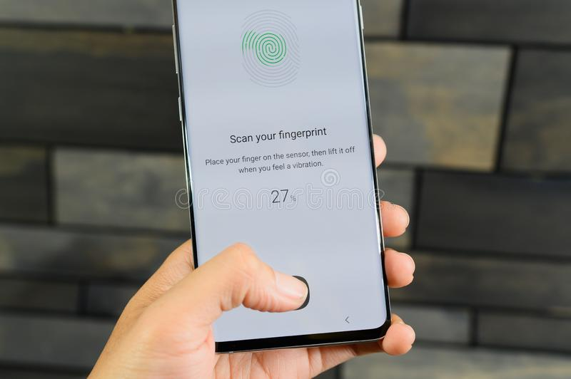 The Galaxy S10 is a fitting 10th anniversary phone for Samsung and its storied S series royalty free stock photo