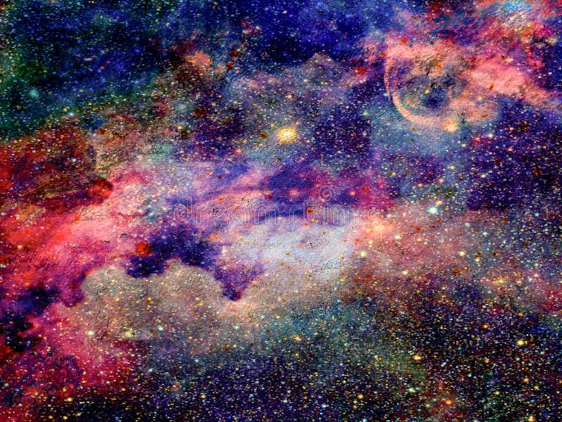 Galaxy Skies Stars Planets Space stock photo