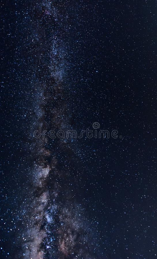 Galaxy in the sky. stock photo