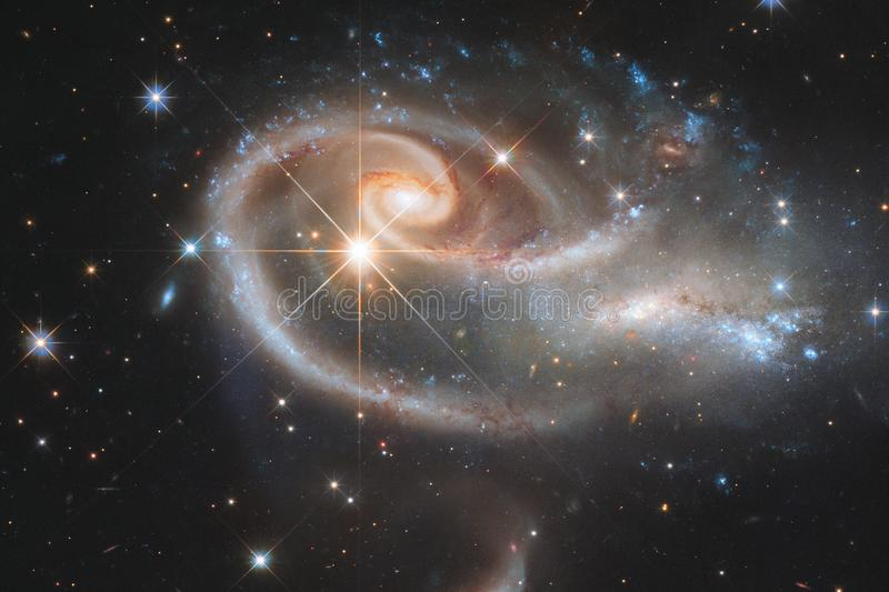 Galaxy somewhere in deep space. Beauty of universe. Elements of this image furnished by NASA royalty free stock photography