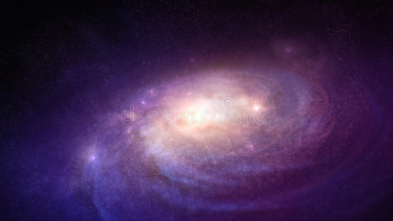 Galaxy in the space. Galaxy rotation in the space vector illustration