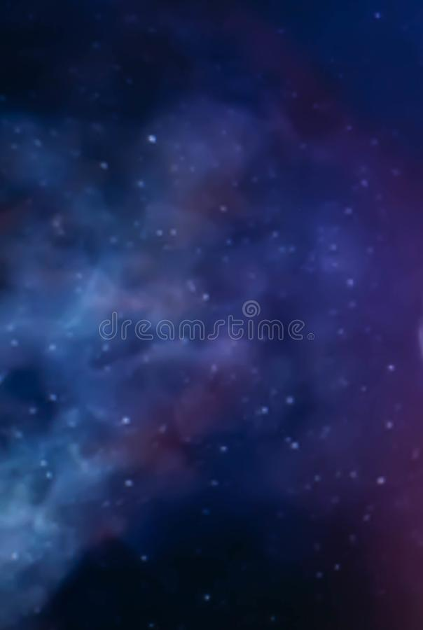 Galaxy, space sky. Stars, lights, fantasy background royalty free stock image