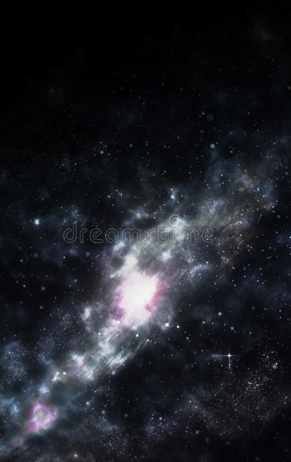 galaxy spiral stock illustrationer