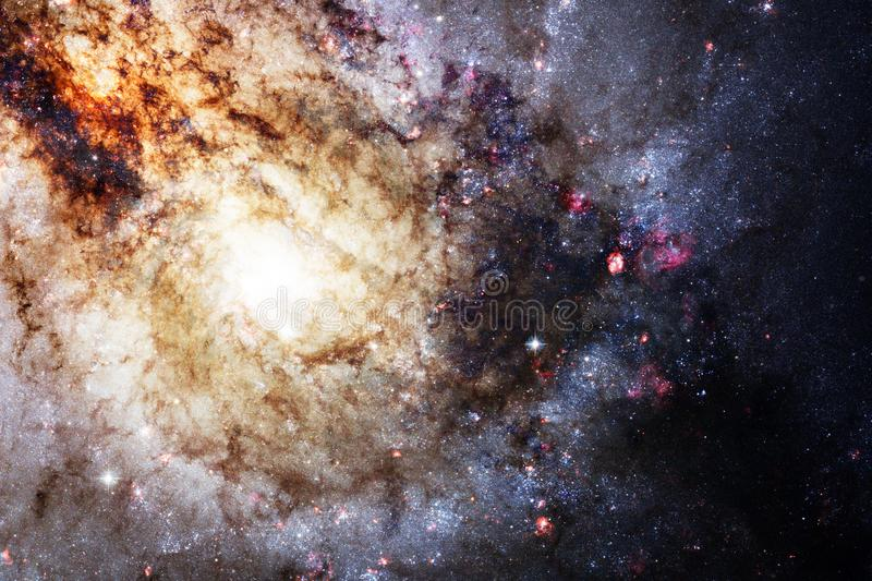 Galaxy, starfield, nebulae, cluster of stars in deep space. Science fiction art royalty free stock photography