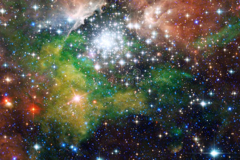 Galaxy, starfield, nebulae, cluster of stars in deep space. Science fiction art royalty free stock photos