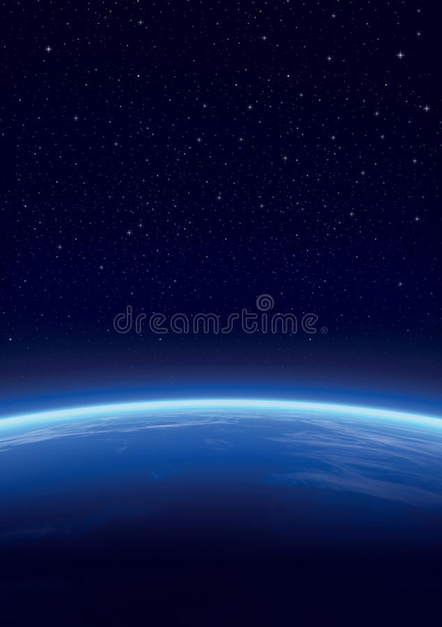 Download Galaxy With Stars, Horizon Background Stock Illustration - Image: 9531638