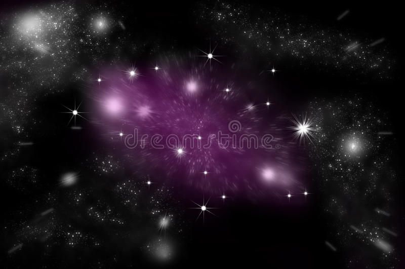 Galaxy and stars in space stock illustration