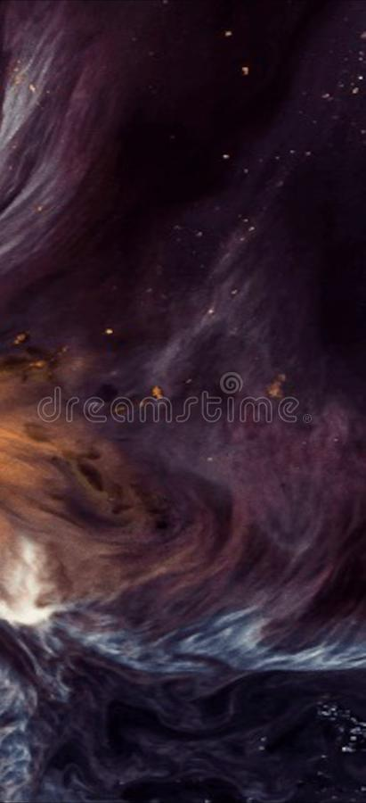 Galaxy World Purple Waves Abstract Space stock photos